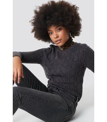 sisters point pretty knitter sweater - grey