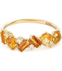 'amalfi' diamond topaz citrine 14k gold ring