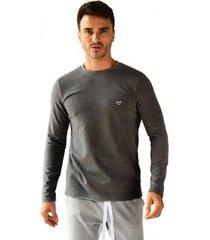 camiseta brohood manga longa moletom masculina