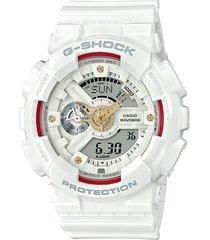 reloj g shock ga-110ddr-7adr blanco resina
