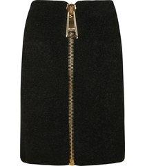moschino long zip mid-length skirt
