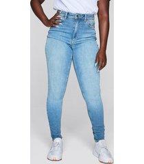 high waist curve jeans - ljusblå