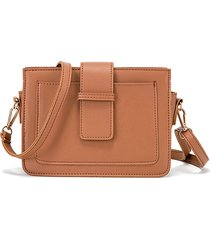 tracolla semplice da donna in ecopelle borsa spalla borsa telefono borsa