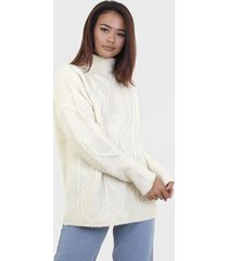 sweater brave soul blanco - calce regular