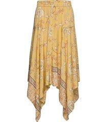 elba sunny skirt knälång kjol gul mos mosh