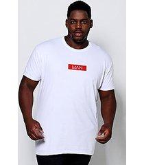 big and tall man dash print t-shirt