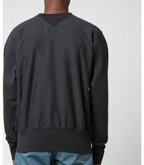 maison margiela men's patch logo sweatshirt - anthracite - 50/l