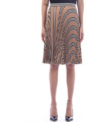burberry pleated crepe skirt