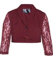 blazer con maniche in pizzo (rosso) - bpc selection