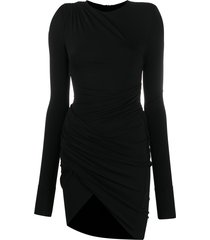 alexandre vauthier draped stretch-jersey mini dress - black