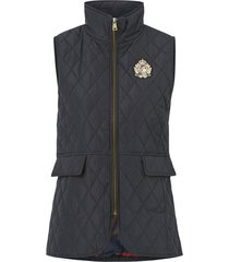 väst satin finish-quilted vest w crest