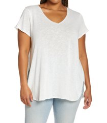 plus size women's treasure & bond relaxed tunic top, size 1x - white