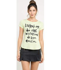 t-shirt manola livrai-me verde claro