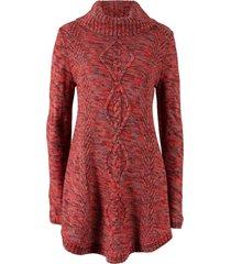 pullover poncho (rosso) - bpc bonprix collection