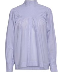 lucille shirt blouse lange mouwen blauw nué notes
