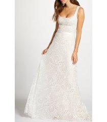 women's tadashi shoji beaded lace wedding gown