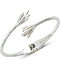 lucky brand silver-tone tulip cuff bracelet