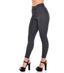 calça jeans dialogo jegging cintura alta preta