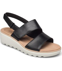 jillian pearl shoes summer shoes flat sandals svart clarks
