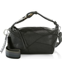 ganni women's leather hobo bag - black