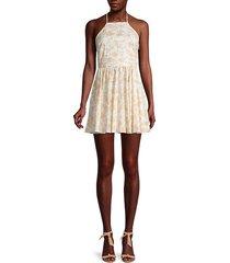 printed stretch-silk mini dress