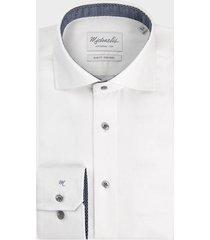 michaelis uni wit oxford shirt met knoop