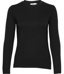 canvey top t-shirts & tops long-sleeved zwart stylein