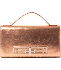 bolsa em couro house of caju metalizada ouro - cobre - feminino - dafiti