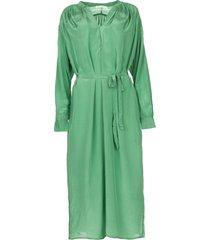 midi-jurk met strikceintuur penny  groen