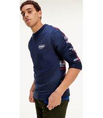 tommy hilfiger men's mix plaid sweater twilight navy / multi - l