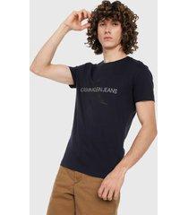camiseta azul oscuro calvin klein
