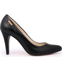 skórzane szpilki zapato 035 czarny lico