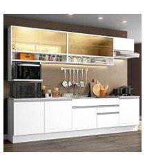 cozinha completa madesa verona com armário e balcão (sem tampo e pia) branco branco