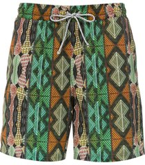 lygia & nanny gil elastic swim shorts - orange