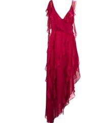 blumarine amarena pink silk dress