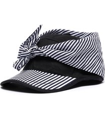 stripe panel tie front cap