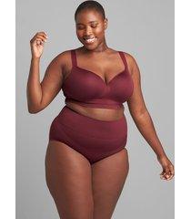 lane bryant women's level 2 slimmer high-waist full brief panty 18/20 zinfandel
