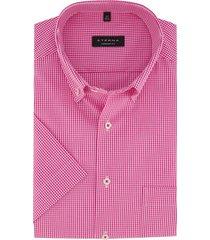 comfort fit overhemd eterna korte mouw roze