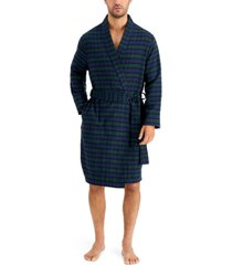 club room men's plaid robe, created for macy's