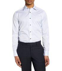 men's david donahue slim fit medallion dress shirt