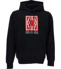marcelo burlon rural cross regular hoodie