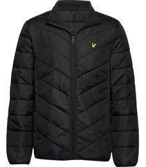 puffer jacket gevoerd jack zwart lyle & scott