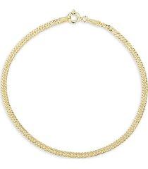 chloe & madison women's 18k gold vermeil double curb chain bracelet