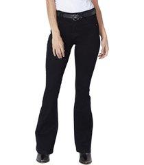 jeans tiro alto high waist flare 2600 negro amalia jeans
