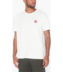 nudie jeans uno njco circle t-shirts & linnen offwhite
