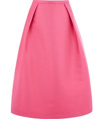 satin twill midi skirt