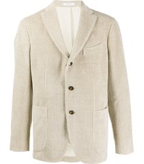boglioli corduroy single breasted blazer - neutrals