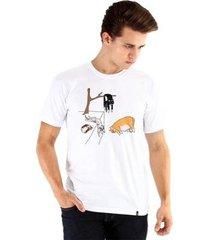camiseta ouroboros gatos de dalí masculina - masculino