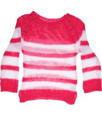 sweater fucsia exótica rayado