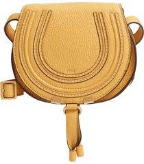 chloe 'mini marcie' leather crossbody bag - yellow